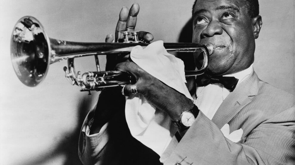 jazz musician playing trumpets